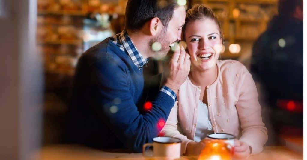 couple connecting over sharing a memory of a date