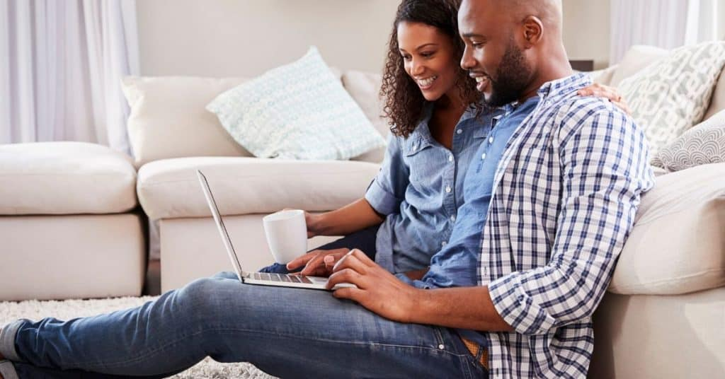 Couple planning a weekend getaway as a way to connect with your spouse.