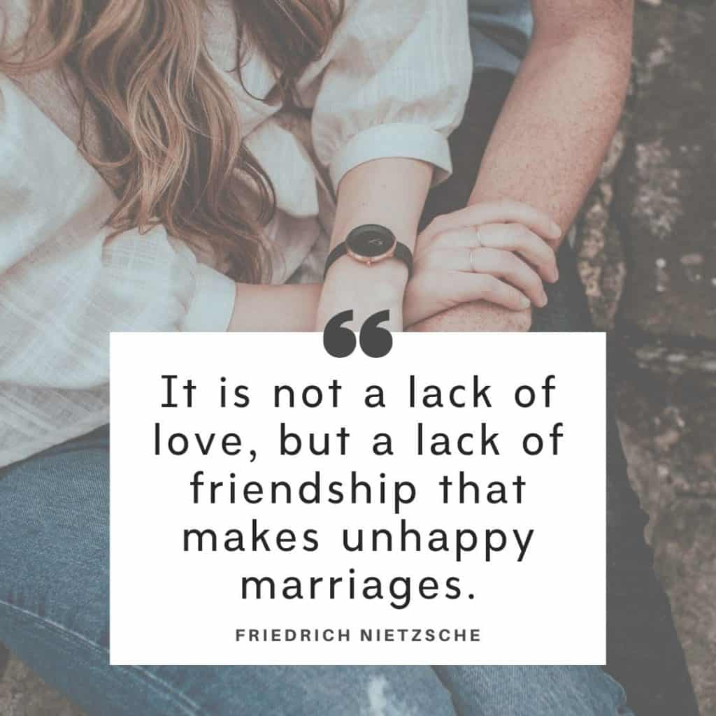 A Friedrich Nietzche quote about troubled marriage
