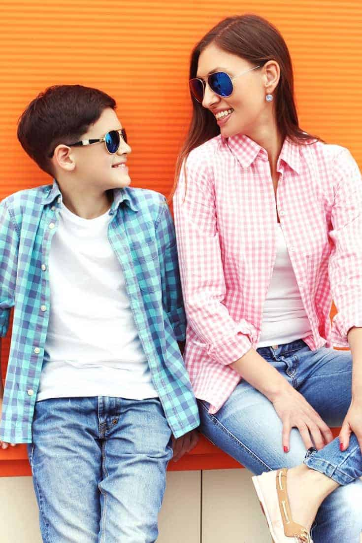 Mother-son date ideas: mother and teen son