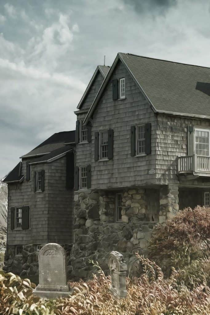 a haunted house, perfect for a Halloween date night