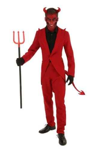 Red suit Devil costume for adults