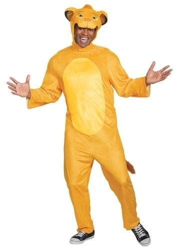 Lion King animated Simba jumpsuit costume