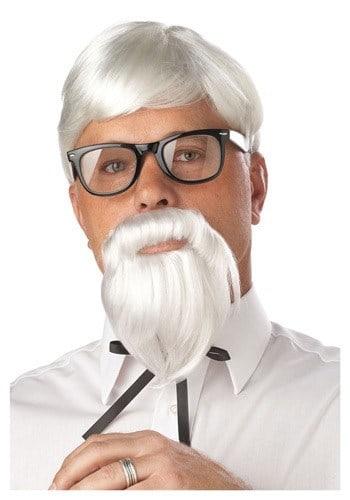 White Colonel wig and mustache