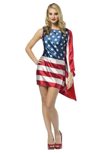 Flag dress costume for women