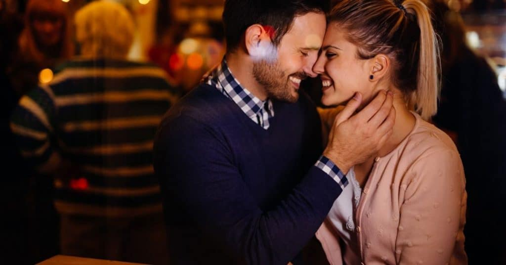 A couple on a date pretending they are meeting for the first time: a sexy date idea.