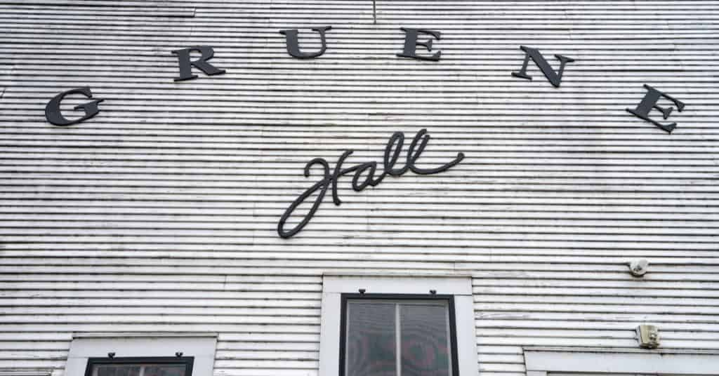 A shot of Gruene Hall so you can see the name on it