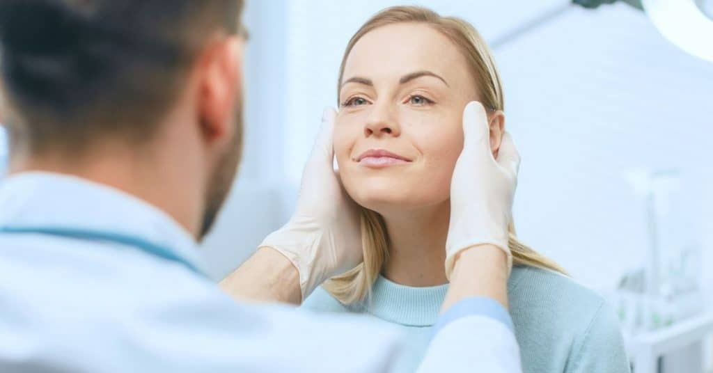 Woman about to get cosmetic surgery
