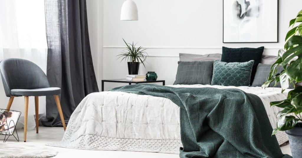 A romantic bedroom.